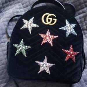 Gucci Velvet Marmont backpack